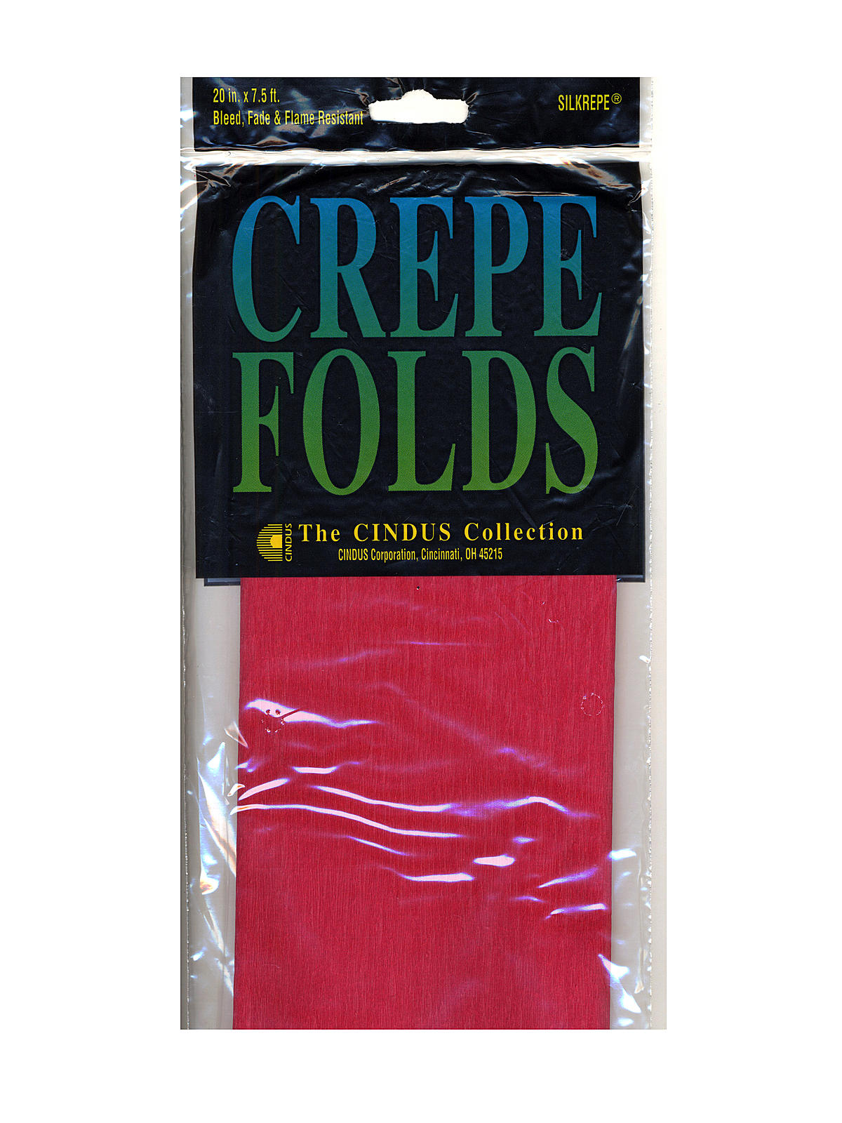 Cindus Crepe Paper Folds gray PACK OF 6