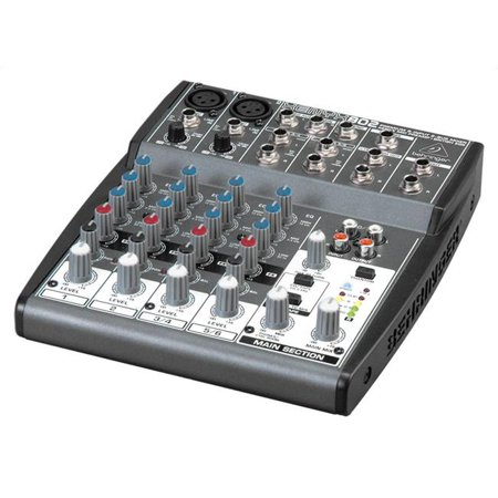 BEHRINGER USA INC XENYEX802 Premium 8-Input 2-Bus Mixer with XENYX Mic Preamps and British