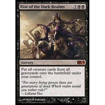 - Rise of the Dark Realms - Magic 2014, A single individual card from the Magic: the Gathering (MTG) trading and collectible card game (TCG/CCG). Ship from