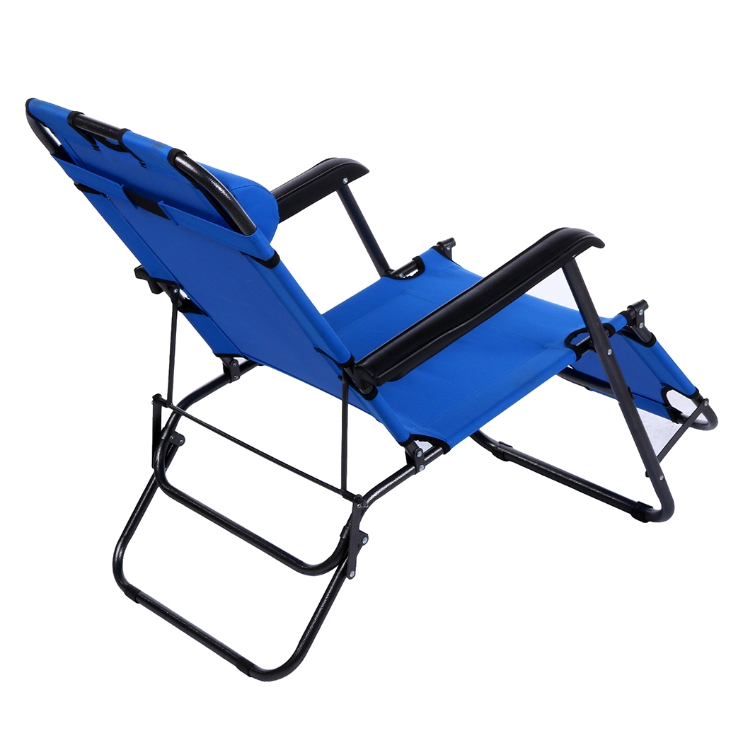 Ancheer Folding Lounge Patio Chair,Outdoor Reclining Beach Chaise With  Pillow   Walmart.com