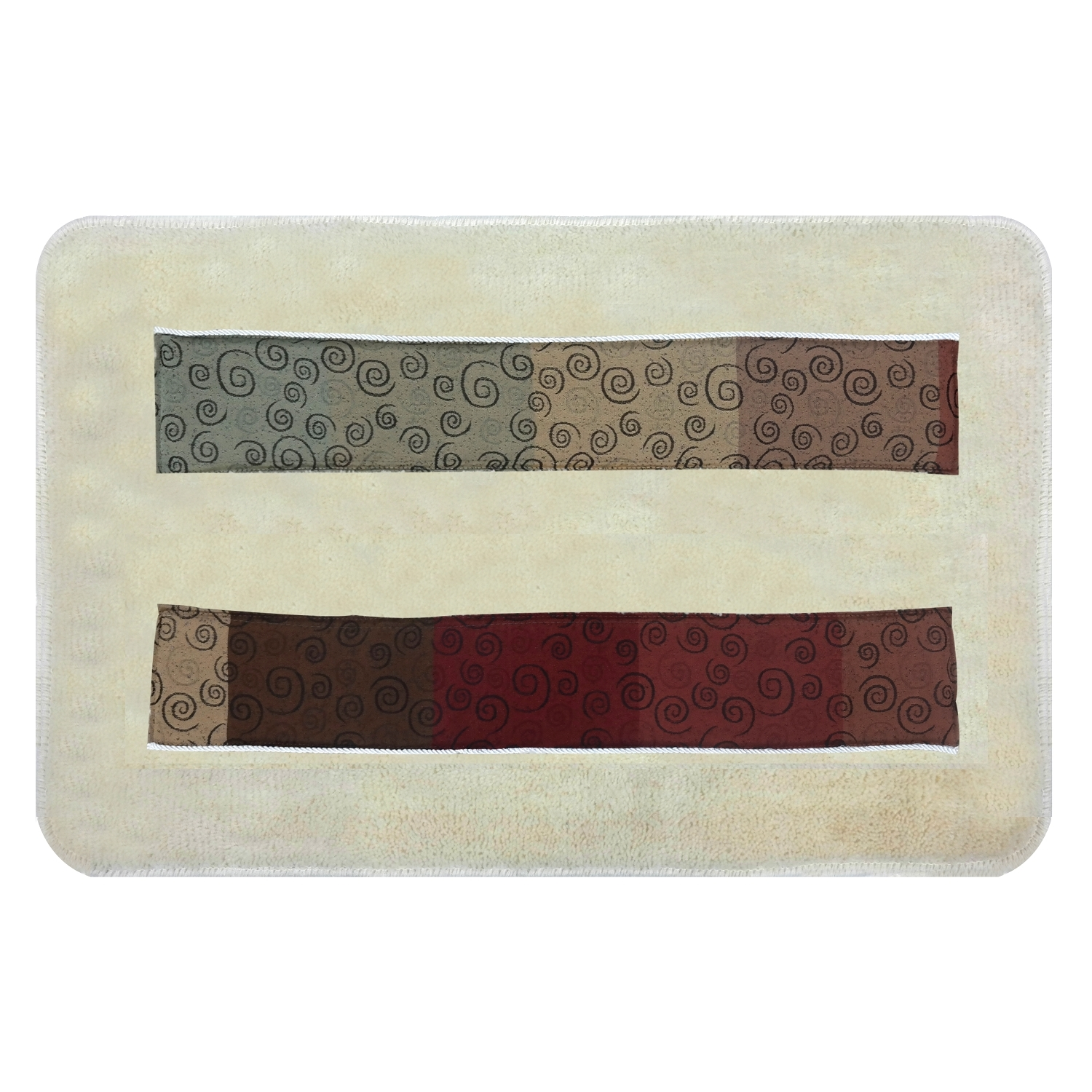 Popular Bath Miramar Bath Collection - 21 x 32 Banded Bathroom Rug