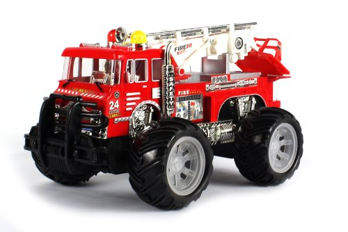 24 Hour Fire Dept. Electric RC Truck 1:16 Scale Rescue Zero Team Ready To Run RTR, Monster... by Velocity Toys