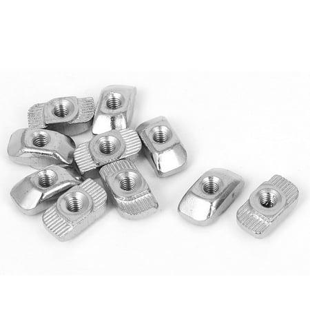 Unique Bargains 10pcs M4 Hammer Head T Slot Nuts Drop in T-Nuts for 30 Series Aluminum Profiles