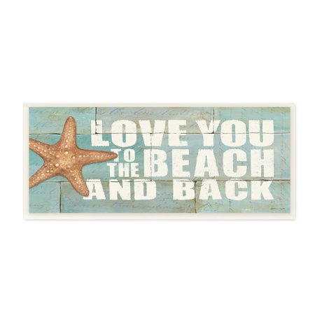 The Stupell Home Decor Collection Love You To The Beach And Back Starfish Bricks Wall Plaque Art, 7 x 0.5 x 17 (Decor Home)
