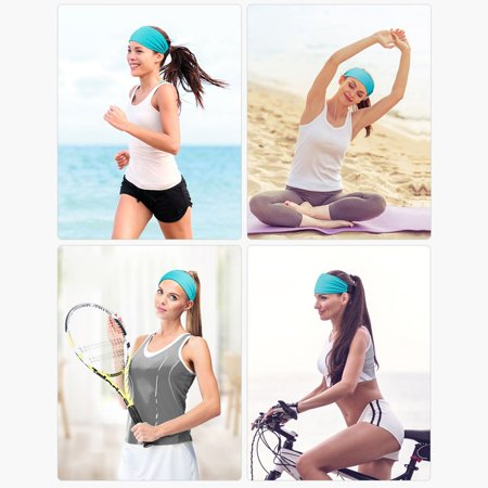 Fashion Sports Headband Women'S Fitness Sweat-Absorbent Wide-Brimmed Headband - image 3 of 6