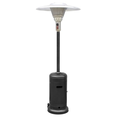 Tall Hammered Black Commercial Patio Heater ()