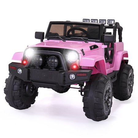 JAXPETY 12V Ride On Car Kids W/ MP3 Electric Battery Power RC Remote Control Pink