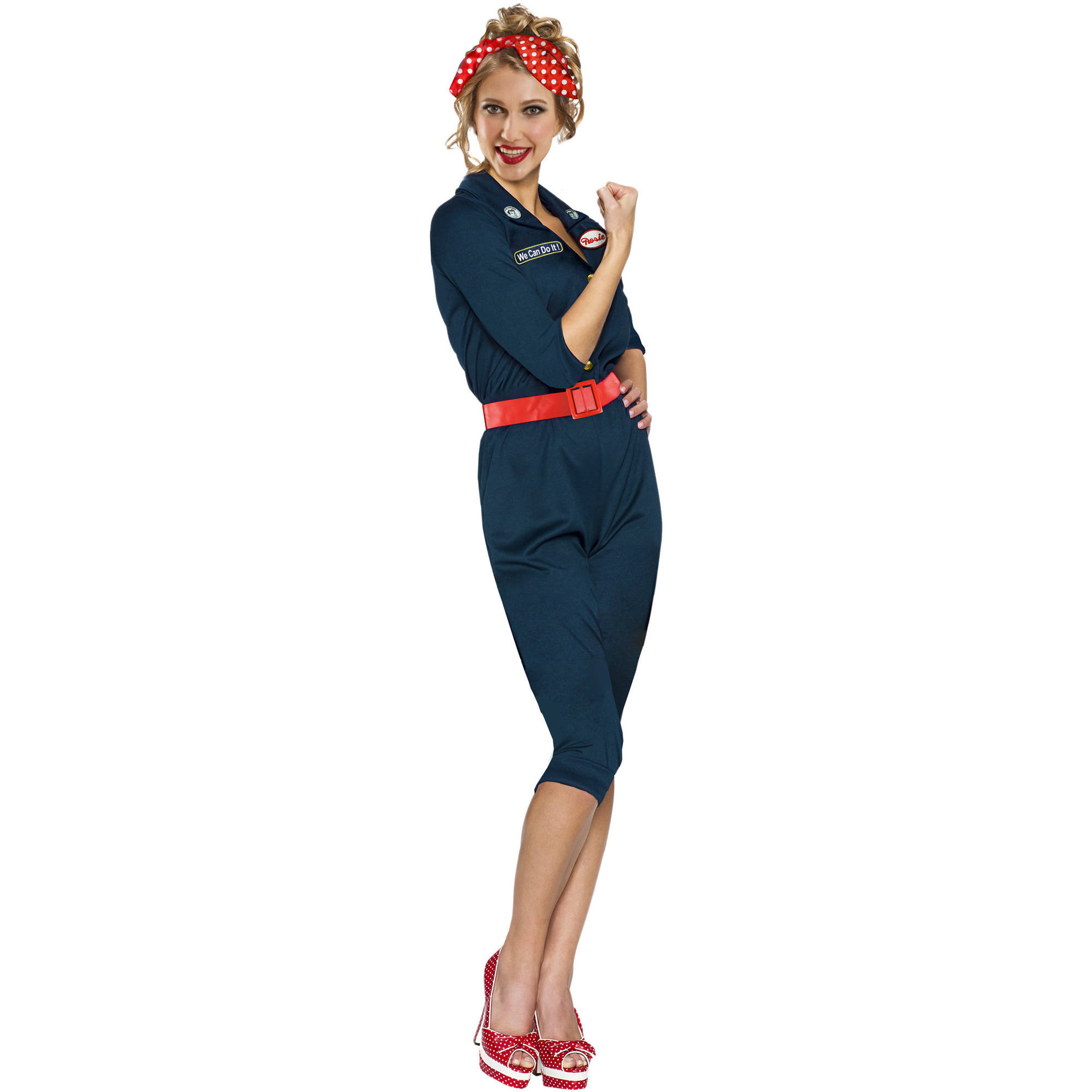 rosie the riveter adult halloween costume walmartcom - Rosie The Riveter Halloween Costume