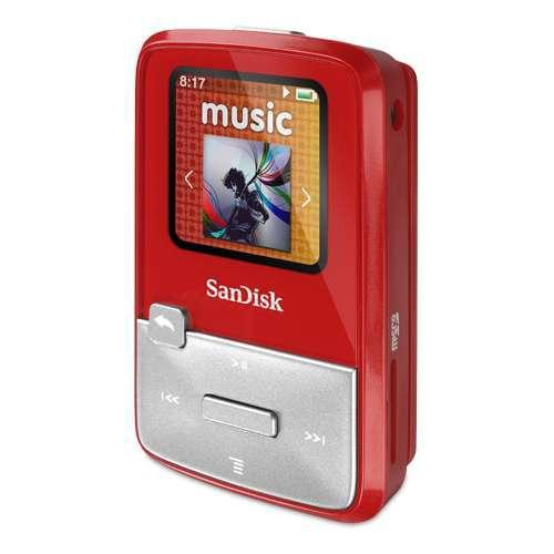 SanDisk  Sansa® Clip Zip™ MP3 Player - Red, 4GB