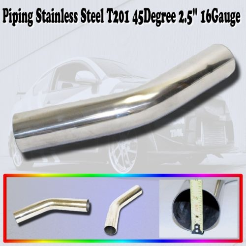 Universal Piping Stainless Steel T201 45 Degree Elbow 2.5""