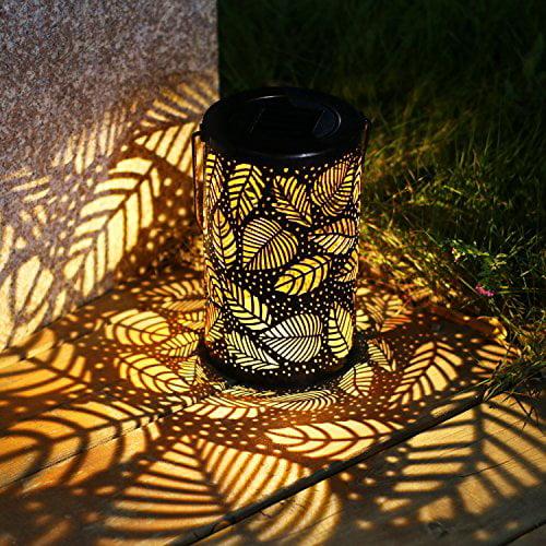 Outdoor Solar Power Lantern Hanging Light Led Pillar Yard Patio Garden Lamp 1a