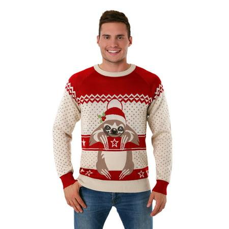 85e2deb4c4683 Adult Sloth Ugly Christmas Sweater - Walmart.com