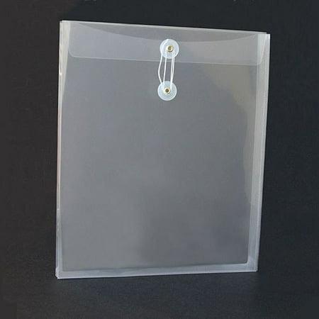 School Smart Top-Loading Polypropylene String Envelopes, Letter Size, Pack of 12