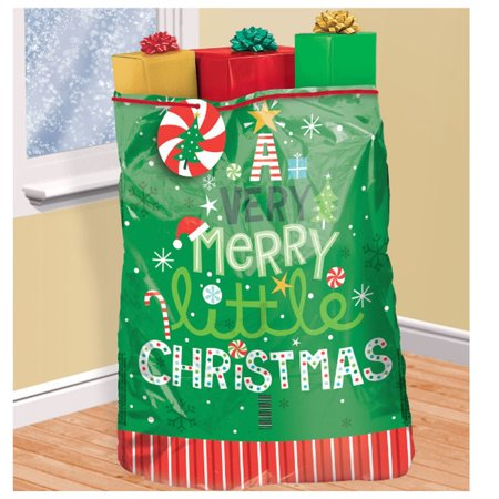 Christmas Gift Bags.Very Merry Super Giant Christmas Gift Bag Tag Tie 44 X 56 Plastic Sack