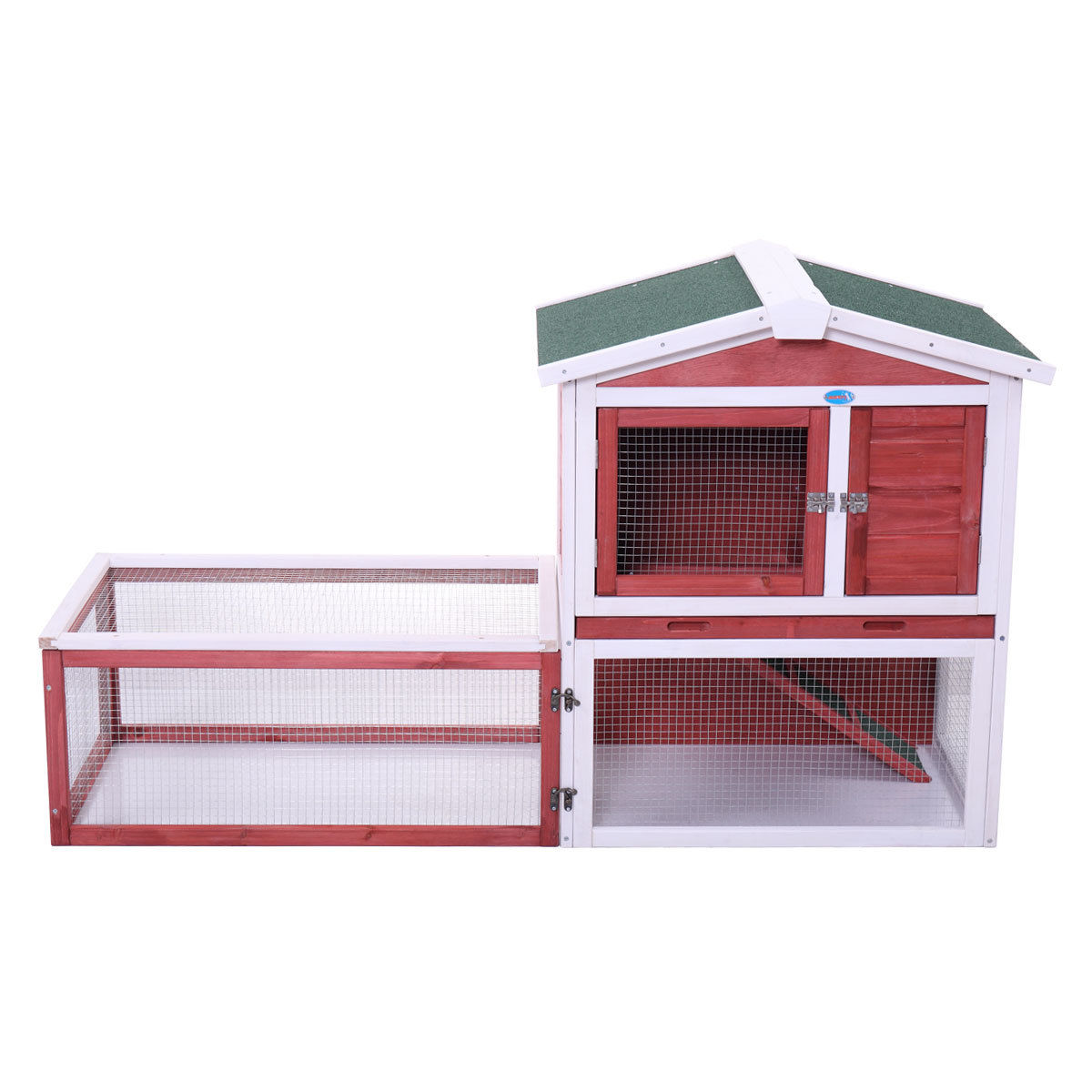 """61"""" Wood Chicken Coop Rabbit Hutch Hen House Poultry Pet Cage Waterproof by Jaxpety"""