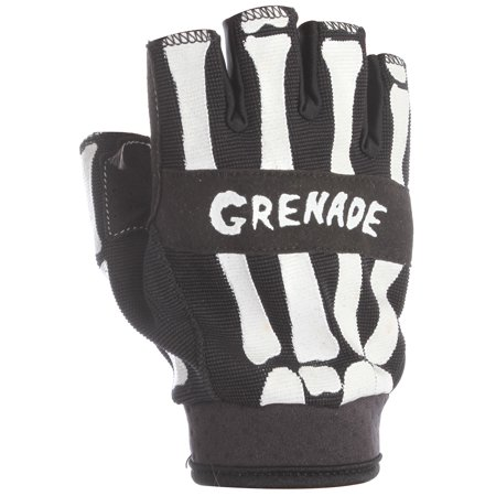 Fingerless Bike Gloves - Grenade Bender Fingerless Bike Gloves Black Mens