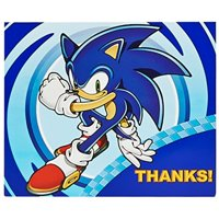 birthday express sonic the hedgehog party supplies - thank-you notes (8)