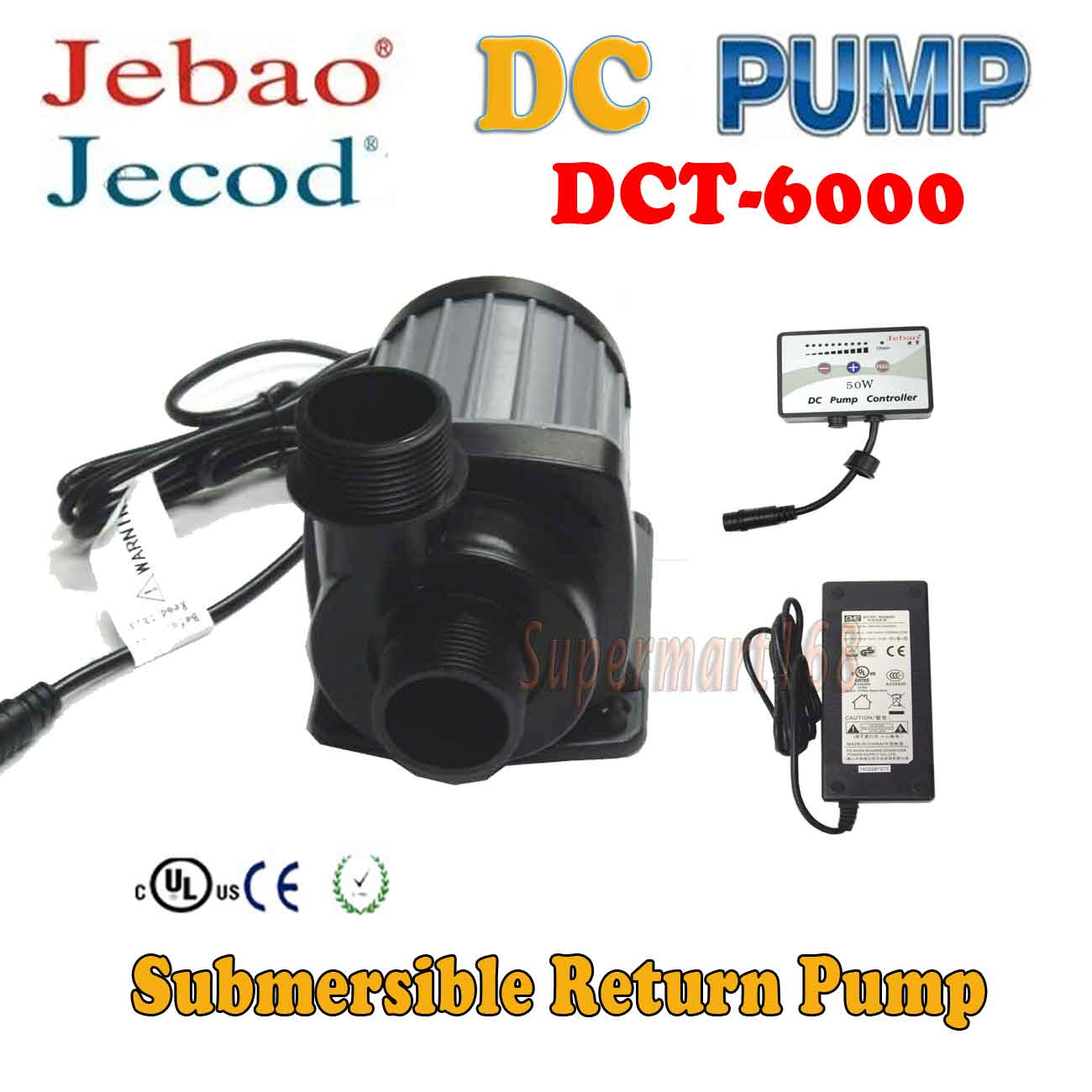 Jebao/Jecod Circulation Pump  DC DCT-6000 for Reef Tank S...