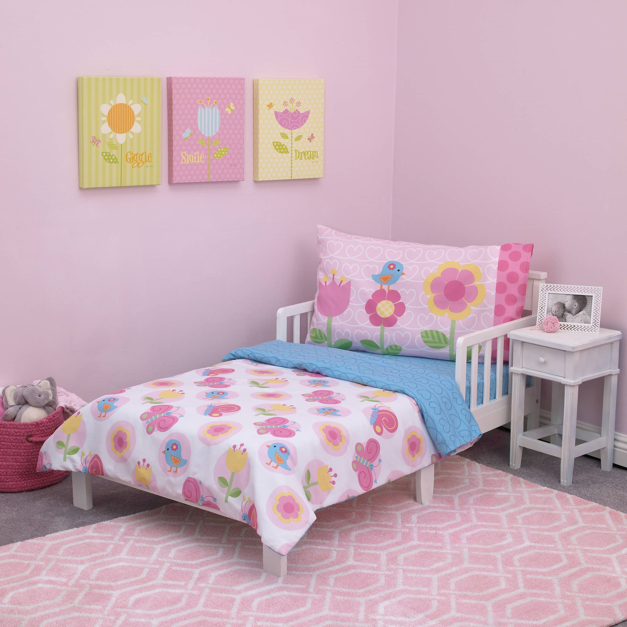 Everything Kids Garden Party 4-Piece Toddler Bedding Set