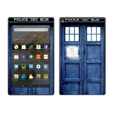 Skin Decal For Amazon Fire Hd 8 Tablet / Phone Booth, Tardis Call