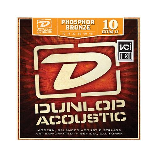 Dunlop DAP1048 Phosphor Light Acoustic Guitar Strings, 6-String Set by Dunlop