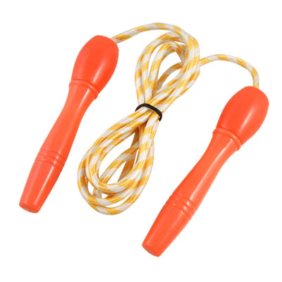 Yellow White Stripe Decor Keep Health Exercise Skipping Rope