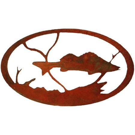 7055 Inc Fish Oval Wall D cor