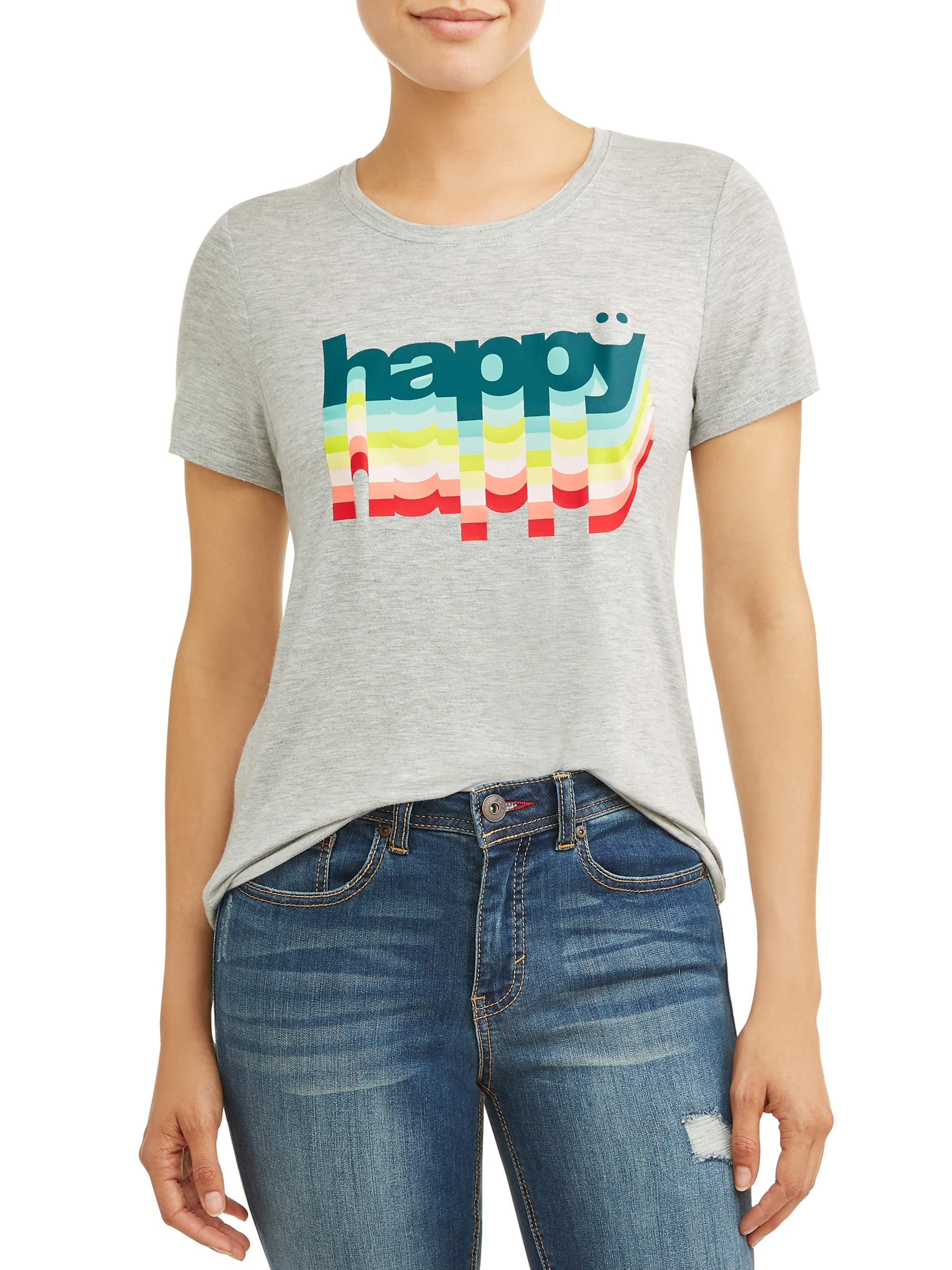 Women's Happy Crew Neck Tee