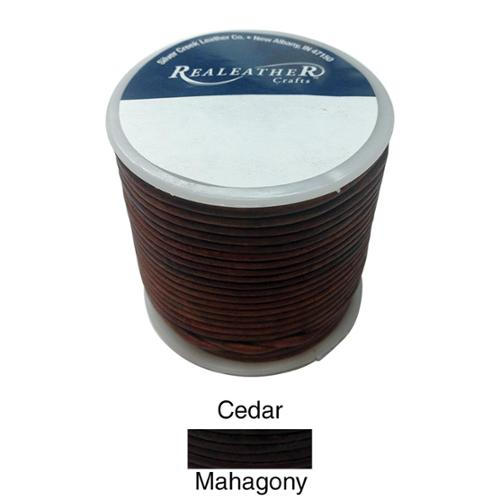 Realeather Crafts Round Leather Lace 2mm 25yd Spool