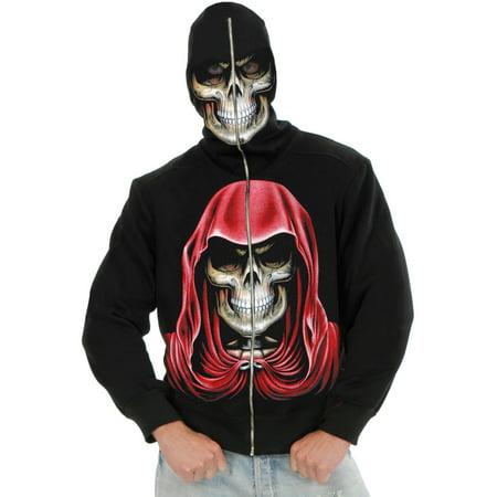 Adult Men's Empire Reaper Black Hoodie Sweatshirt (Empire Halloween)