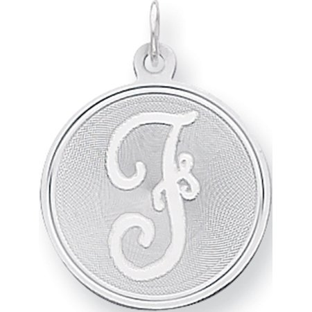925 Sterling Silver Brocaded Initial F (20x27mm) Pendant / Charm - image 1 of 2