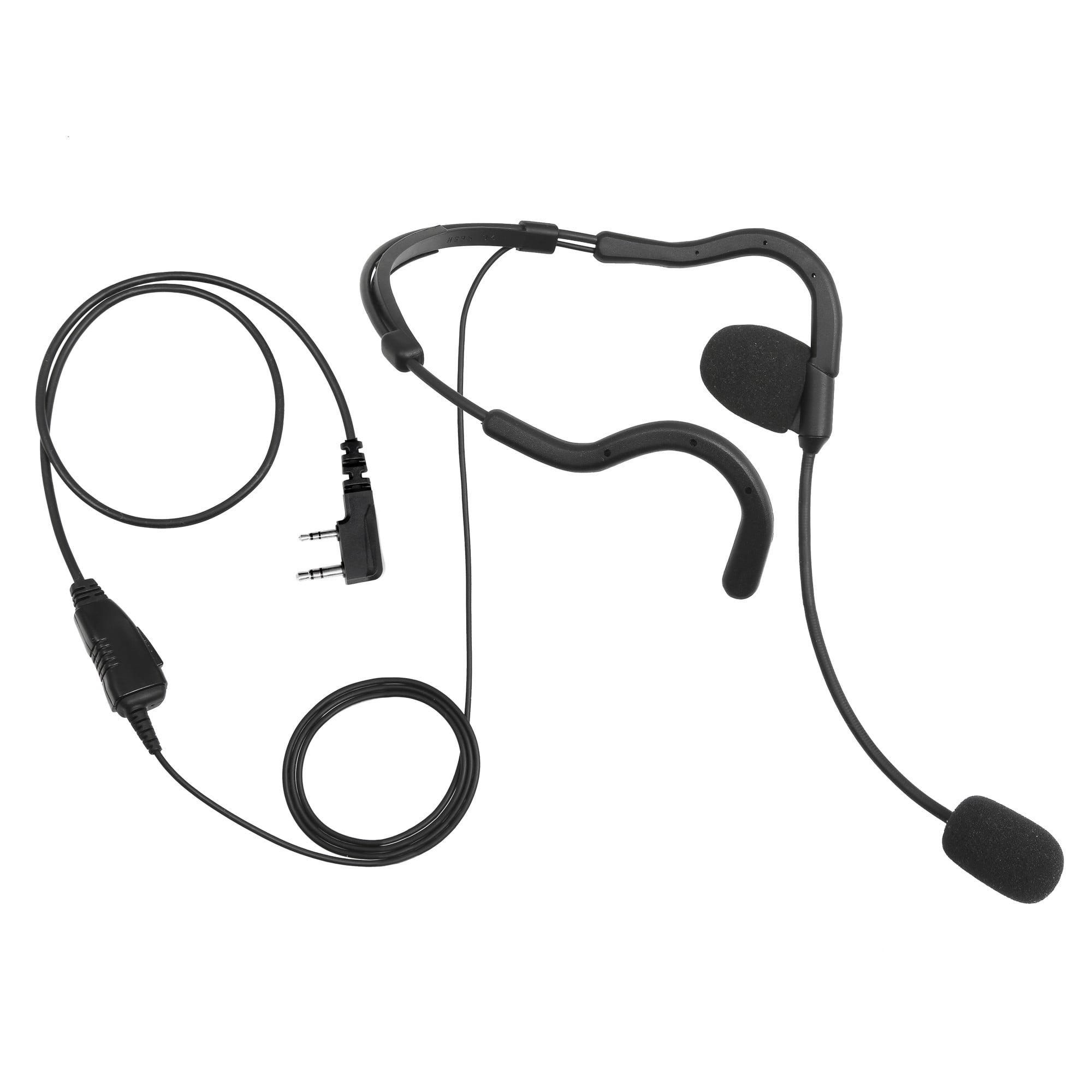 Audio Pro-grade 2-Way Radio Earpiece PTT for Wouxun KG-D900 KG-UVD1P KG-UVA1
