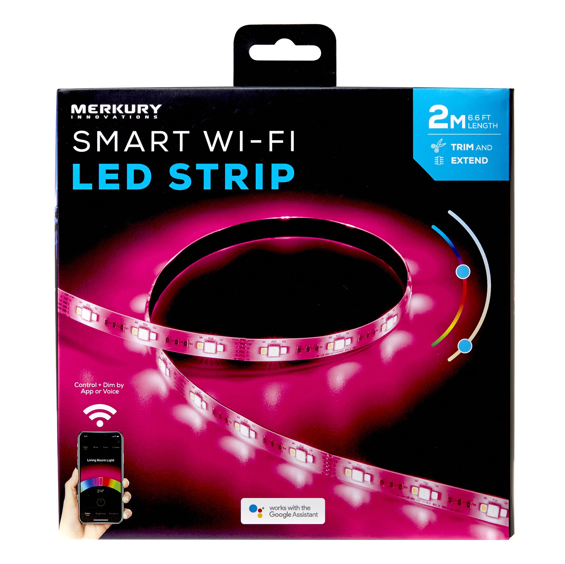 Merkury Innovations 2m Smart Wifi Rgb Led Strip Kit