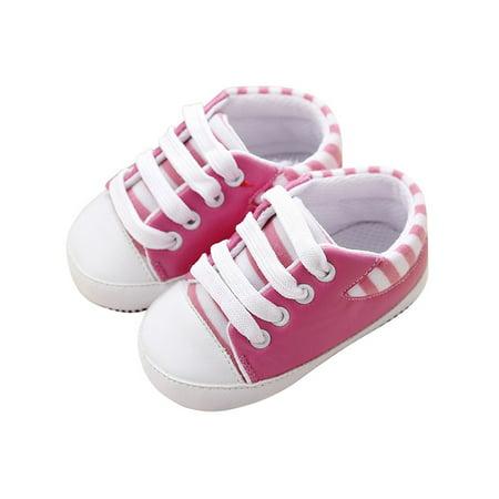 Crib Shoes Sneakers - Babula Baby Boy Girl Soft Sole PU Crib Sneaker Shoes