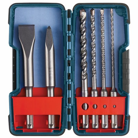 Bosch HCST006 SDS-plus Masonry Trade Bit Set Chisels & Carbide 6-piece Bulldog S