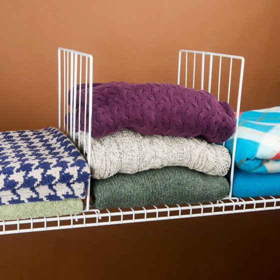 Evelots Set Of 8 Closet Shelf Dividers For Wire Shelving, Wire ...