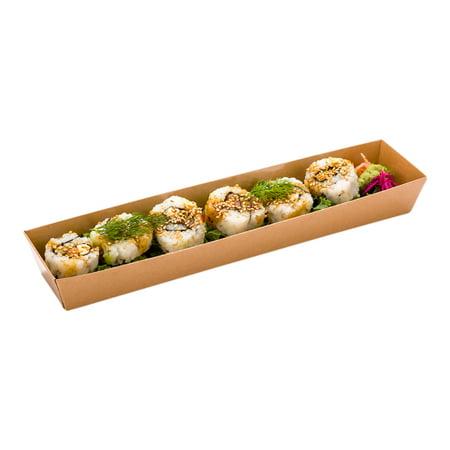 Matsuri Vision Kraft Paper Large Maki Sushi Container - 11 1/4