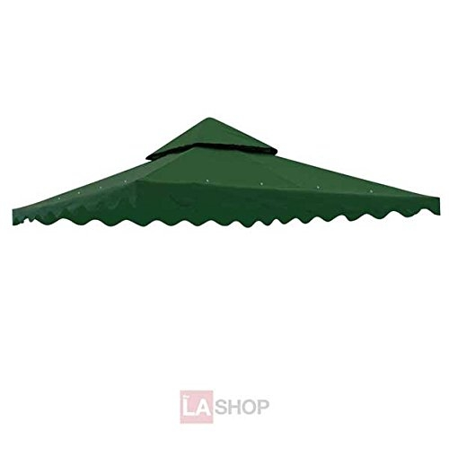 Green Color 10 Square Feet Garden Canopy Gazebo Replacement Top Two Tiers Outdoor