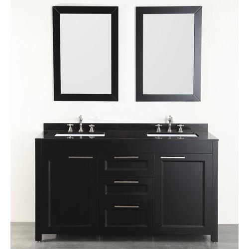 Bosconi 60'' Double Bathroom Vanity Set with Mirror