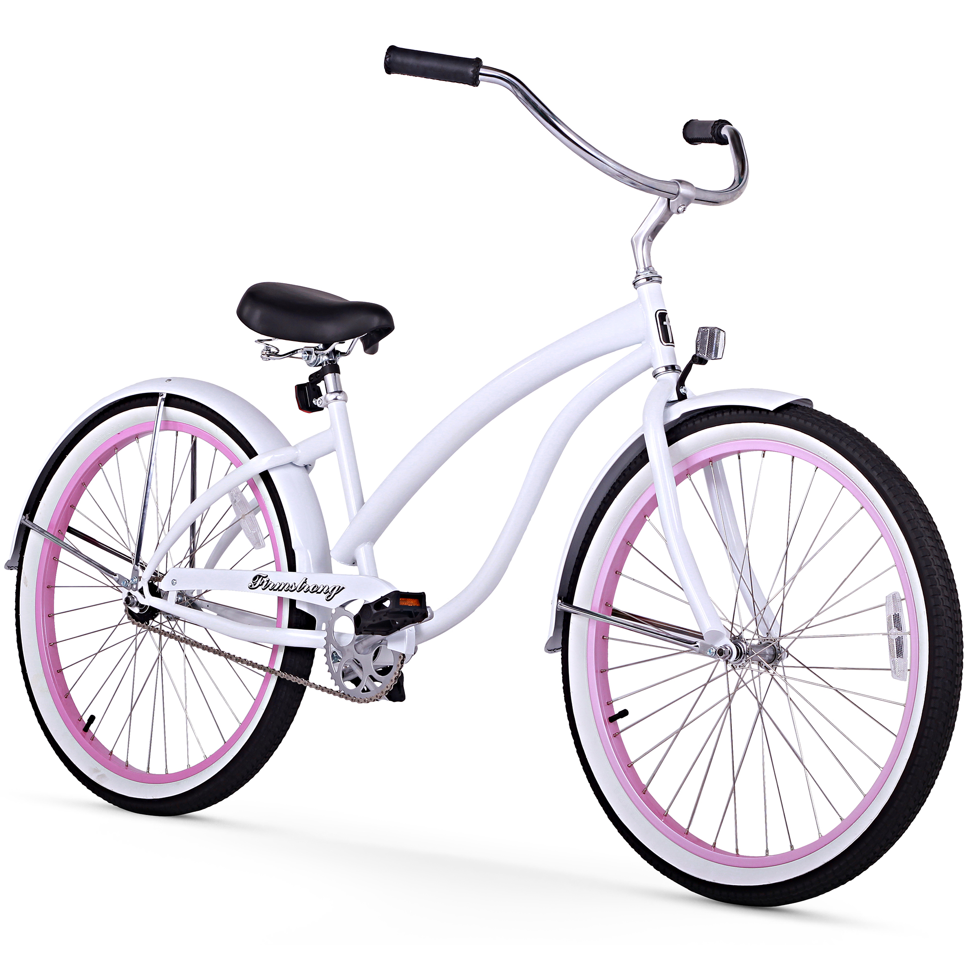"""Firmstrong 26"""" Woman's Bella Fashionista Beach Cruiser Bicycle, 1, 3 and 7 Speed"""