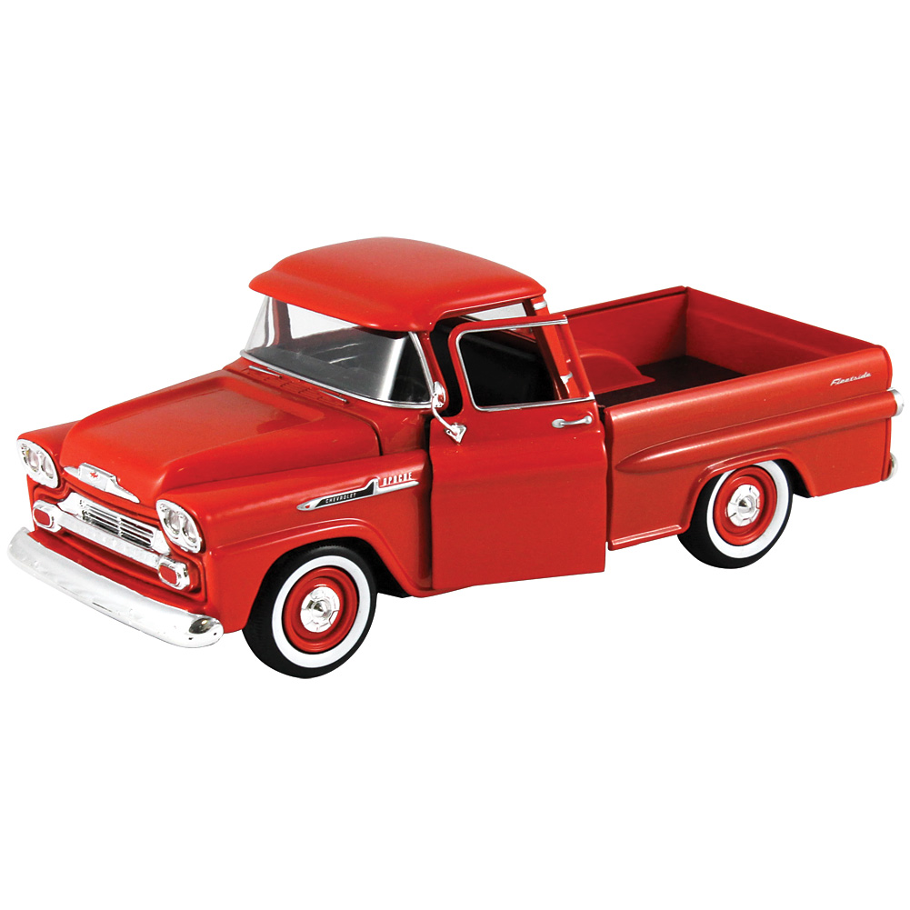 1958 Chevy Apache Fleetside Pickup Truck - 1:24 Scale Die Cast Collectible