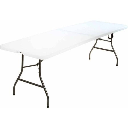Parcheesi Table (Cosco 8 Foot Centerfold Folding Table, White )