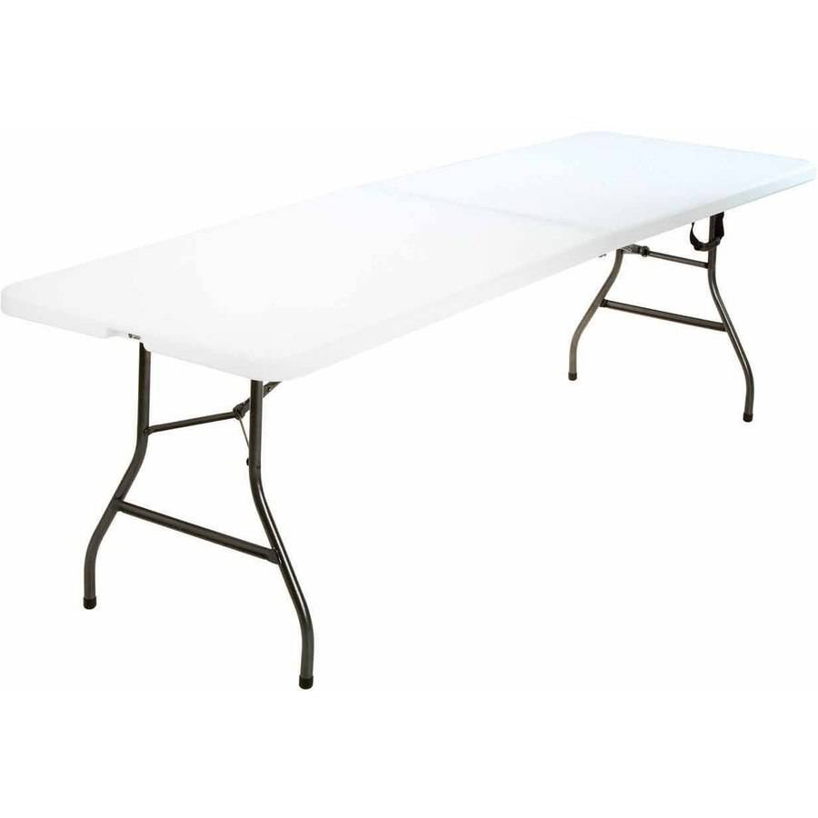 Cosco 8u0027 Ft Centerfold Table, White