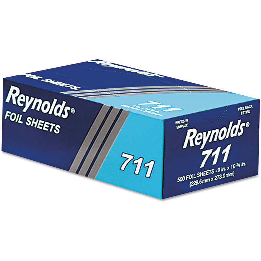 Reynolds 711 Pop-Up Interfolded Aluminum Foil Sheets, 6 Boxes of 500, 3,000 Sheets Total