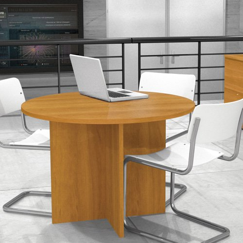 Bestar 42 in. Round Meeting Table Cappuccino Cherry by Bestar