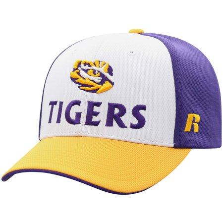Men's Russell White/Gold LSU Tigers Novice Adjustable Snapback Hat -