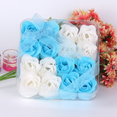 16Pcs Heart Scented Bath Body Petal Rose Flower Soap Wedding Decoration Gift BU