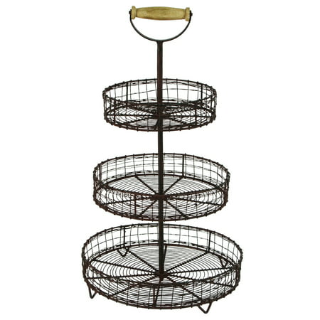 Wire Rack Display Stands | Treasure Gurus Antique Style Metal Wire 3 Tier Rack Display Stand