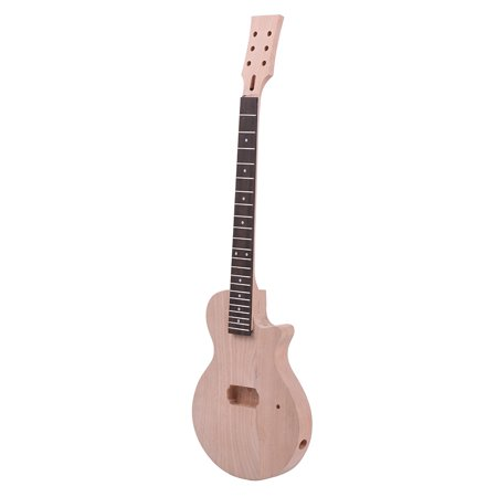 Muslady Children LP Style Unfinished DIY Electric Guitar Kit Mahogany Body & Neck Rosewood Fingerboard Single Dual-coil Pickup - image 5 de 5