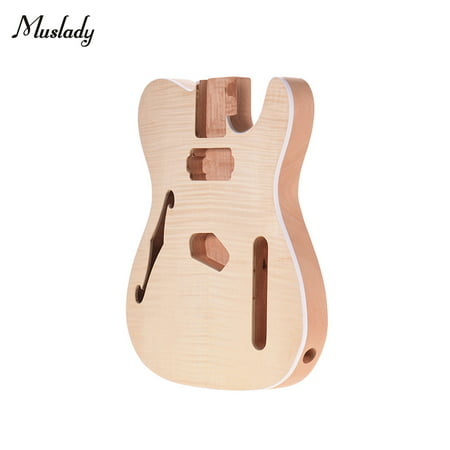 Muslady TL-FT03 Unfinished Guitar Body Mahogany Wood Blank Guitar Barrel for TELE Style Electric Guitars DIY Parts - image 1 of 6